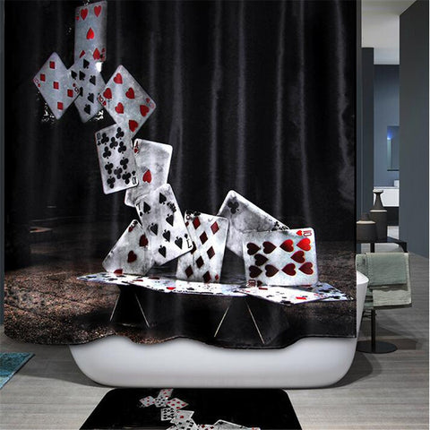 Modern 3D  Deck of Cards Fabric with Hooks