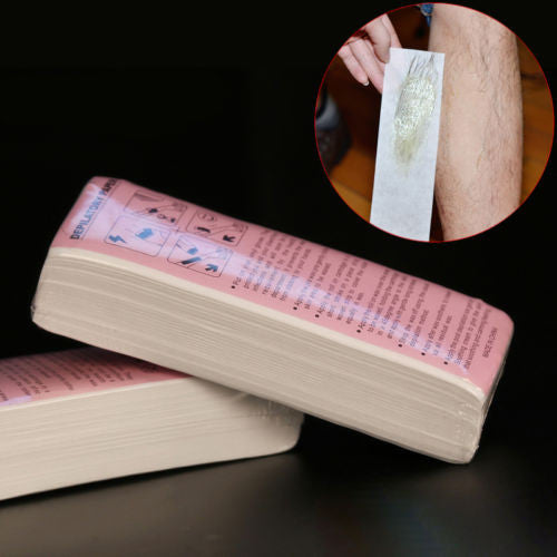 100pcs With special thick non-woven depilatory wax hair removal Waxing wax paper for paper white hair removal wax for depilation - On Trends Avenue