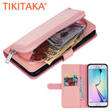 2 in 1 Leather Flip For Iphone 7 6 6s Plus Cover Multifunction Wallet Case For Samsung Galaxy S5 S6 S7 edge Phone Bag Card Slot - On Trends Avenue