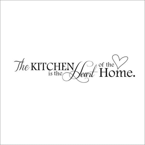 New Kitchen is Heart of the Home Letter Pattern Wall Sticker PVC Removable Home Decor DIY wall art MURAL - On Trends Avenue