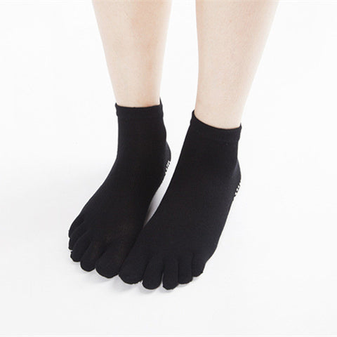 Yhao Brand Large Size Non-slip Cotton Floor Pilates Socks Women Physical Good Grip Men Yoga Toe Socks - On Trends Avenue