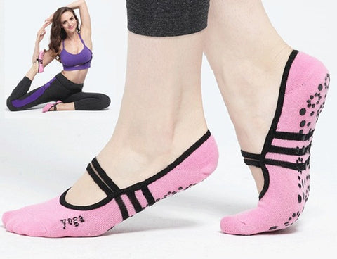 New Arrival 2 Colours Women Anti Slip Cotton Yoga Socks Ladies Pilates Socks Ballet Socks Dance Socks - On Trends Avenue