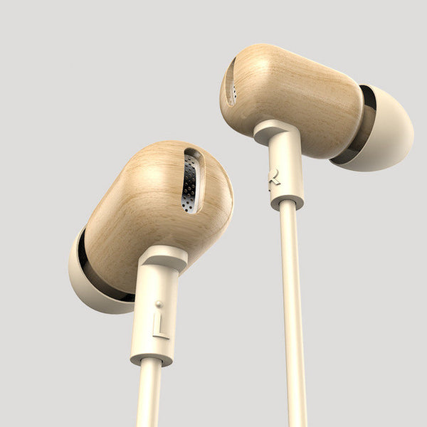 New Original DZAT DF-10 3.5mm In Ear Earphone DIY Wooden DJ Headset Pure Wood Heavy Bass Music HIFI Earbuds - On Trends Avenue