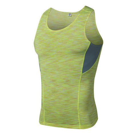 YEL 6001 New Quickly Dry Elastic Compression Tights Tank Top SHM Fitness Bodybuilding Sleeveless T Shirts Gym Running Vest Men - On Trends Avenue