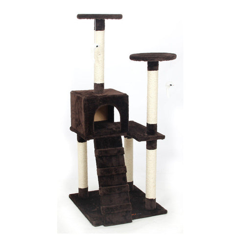 Domestic Delivery Cat Scratchers Toy Wood Climbing Tree Cat Jumping Toy with Ladder Climbing Frame Cat Furniture Scratching Post - On Trends Avenue