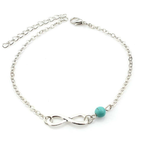 1pc Unique Woman Barefoot Anklet Sexy Beads Silver Chain Anklet Sandals Ankle Bracelet Foot Jewelry Female Summer Beach - On Trends Avenue