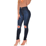 Woman Holes Sexy Jeans High Waist Plus Size XXXL Jeans Women Ripped Jeans  Skinny Trouser Long Women Jeans - On Trends Avenue