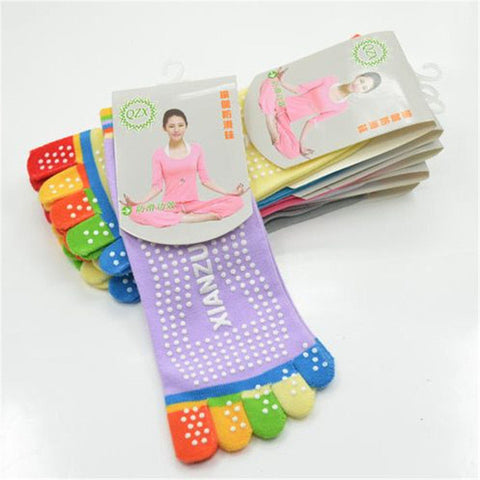 Sports Colorful Yoga Socks Fitness Cotton Socks Women Pilates Socks 6 Colors - On Trends Avenue