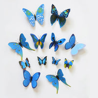12PCS 3D Butterfly Wall Stickers for Home Living Room Kids Bed Room Decoration PVC Butterflies Sticker papel de parede - On Trends Avenue