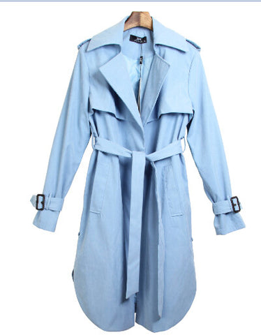 new spring fashion/Casual women's Trench Coat long Outerwear loose clothes for lady good quality C0246 - On Trends Avenue