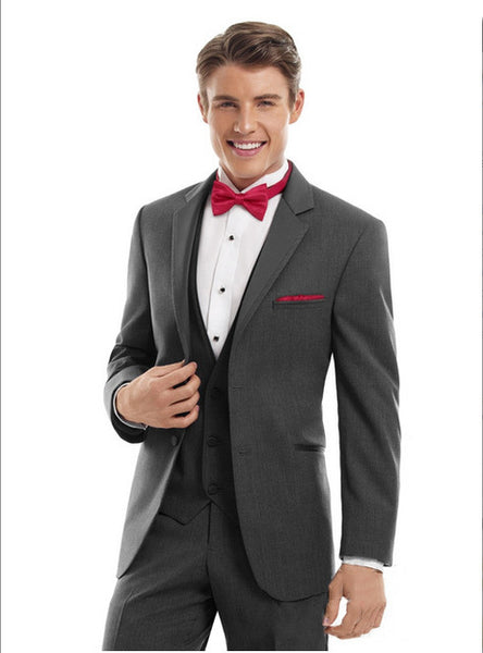 Excellent suits Groom Tuxedos Wedding Men's Suits (jacket+pants+waistcoat+tie) DH:230 - On Trends Avenue