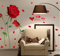 2017 new Removable Red Rose Life Is The Flower Quote Wall Sticker Mural Decal Home Room Art Decor DIY Romantic Delightful 6055 - On Trends Avenue