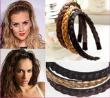 1pc New Arrival New Trendy Headbands Womens Braided Synthetic Hair Plaited Plait Elastic Headband Hairband 2017 Accessories - On Trends Avenue