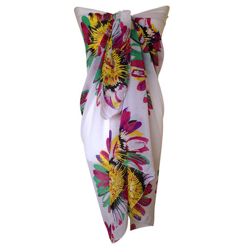 Beach Sarongs Abstract flower butterfly Bikini Cover-Ups Scart - On Trends Avenue
