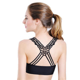 Lace Bralettes Lady V-Neck Vest Mesh Bra Bustier Bralet Crop Top Bra For Women Black White Back Floral With Padded - On Trends Avenue