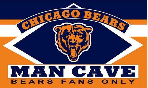 3X5FT Chicago bear man cave flag Digital printing banner - On Trends Avenue