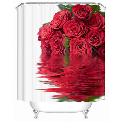Waterproof Bathroom Shower Curtain Rose In The Water The Shower Curtain High-quality Furniture Household Accessories MG003