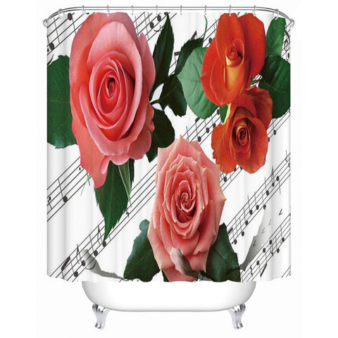 Waterproof Bathroom Shower Curtain Rose In The Water The Shower Curtain High-quality Furniture Household Accessories MG003 - On Trends Avenue