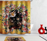 High quality 3d waterproof Shower curtain tower bathroom curtain Fabric creative scenery flower peacock bath curtain with hooks