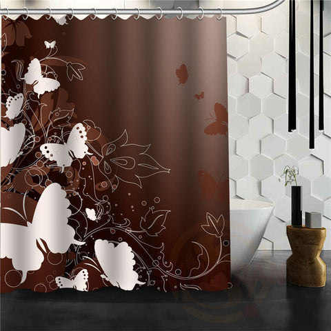 Custom Elegant Butterfly Shower Curtain Multi Size bathroom curtains - On Trends Avenue