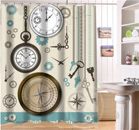 Anchor Personalized Custom Shower Curtain Bath Curtain Waterproof Eco-Friendly MORE SIZE SQ0506-LQ913 - On Trends Avenue