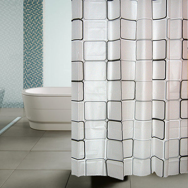 1pc 1.8*1.8m High Quality Bathroom Curtian Bath Ocean Curtain Thicken Cloth water Cube Shower Curtain Bathroom Decoration - On Trends Avenue