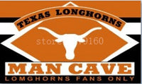 3x5ft arch fans only Texas Longhorns man cave Flag banner with metal Grommets - On Trends Avenue