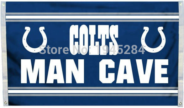 Indianapolis Colts Man Cave Flag Banner New 3x5ft 90x150cm Polyester NFL , - On Trends Avenue