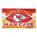 Kansas City Chiefs WinCraft 3 x 5FT Deluxe Man Cave Flag - On Trends Avenue