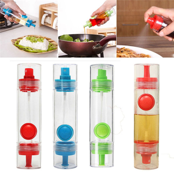 TTLIFE Cooking Olive Oil Sprayer Dispenser Cruet Oil Bottle 2 in 1 Sprayer Can Oil Jar Pot Tool Can Kitchen Pastry Tools - On Trends Avenue