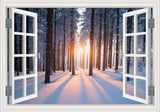 Amazing Forest Tree 3D Wall Sticker Removable Window View Landscape Wallpaper Home Decor - On Trends Avenue