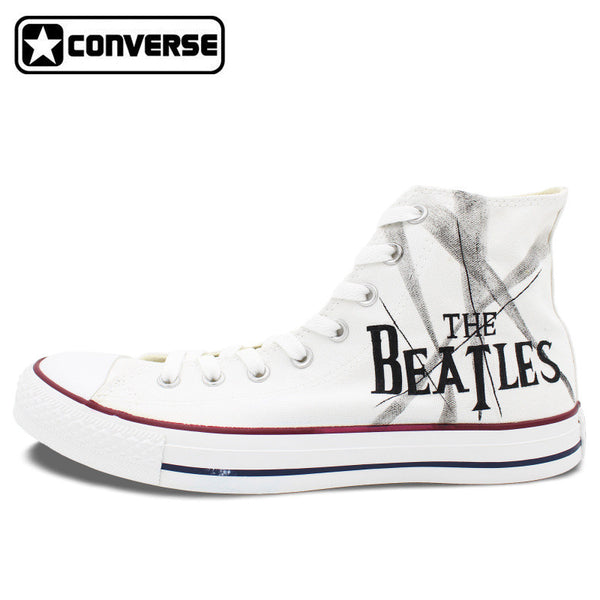 744bbcd6f4eecc White Sneakers Man Woman Converse Chuck Taylor The Beatles Design Custom  Hand Painted High Top Canvas Shoes Men Women