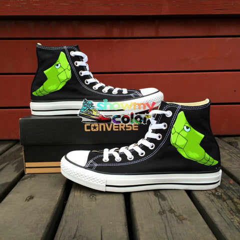 Girls Boys Converse Chuck Taylor Women Men Shoes Pokemon Go Metapod Design Hand Painted High Top Canvas Sneakers Christmas Gifts