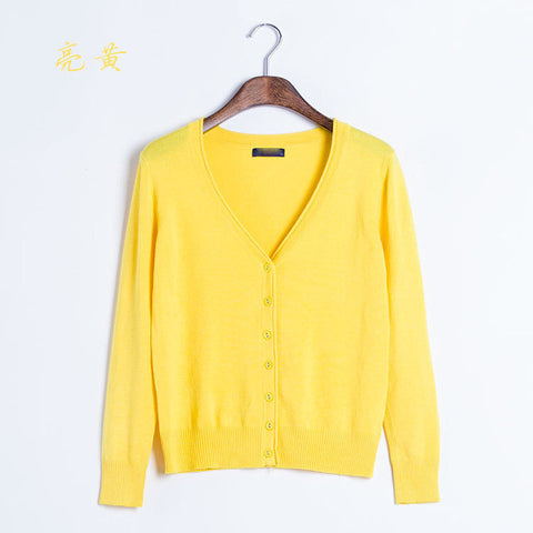 Autumn Winter Female New Cashmere Cardigan V-Neck Knit Shirt Slim Lady Sweaters Big Yards Long CandyColor Women Knitwear Sweater