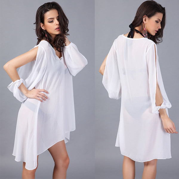 new white lace beach cover up summer dress bathing suit cover ups women Transparent beach skirt swimsuit coverup saida de praia
