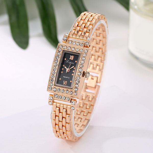 Brand Lvpai Gold Rhinestone Watch Women Luxury Wristwatch Ladies Fashion Watch Female Wristwatches Stainless Steel Dress Watch - On Trends Avenue