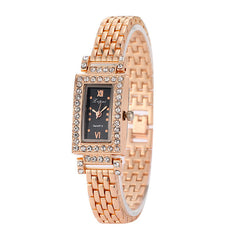 Brand Lvpai Gold Rhinestone Watch Women Luxury Wristwatch Ladies Fashion Watch Female Wristwatches Stainless Steel Dress Watch