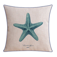 American Seaweed Starfish pillow fish cushion Linen cushions waist throw pillows home decorative sofa cushions - On Trends Avenue