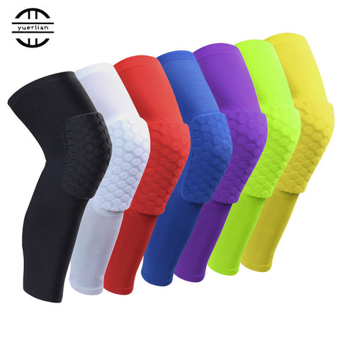Yel Hot 1 pc Logo Custom Honeycomb Padded Sock Sports Safety Basketball Kneepad Compression Sleeve Knee Brace Protector Knee Pad - On Trends Avenue