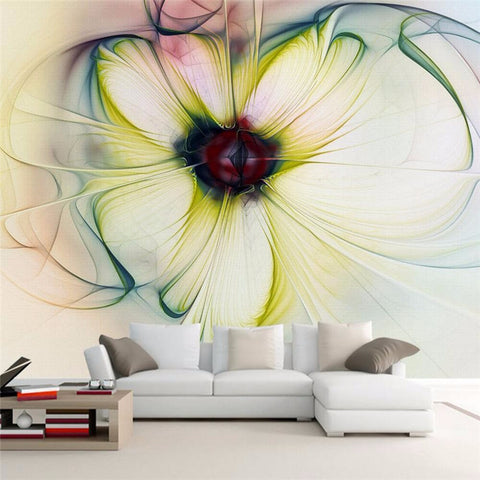Beautiful Flower backdrop 3D Modern Abstract Art paper roll - On Trends Avenue