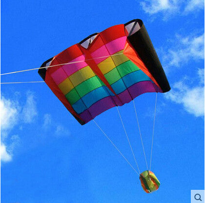 Outdoor Fun Sports  Rainbow Colorful Birds Wing Weifang Kite Flying Umbrella Cloth Easily The Most Beautiful Sky - On Trends Avenue