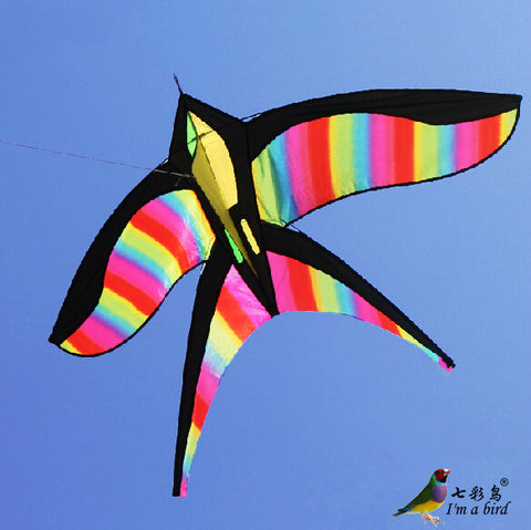 High Quality  NEW Toy Rainbow Bird Kites With Handle Line Nylon Good  Flying Factory Direct  Sale - On Trends Avenue