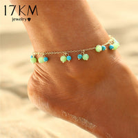 17KM 2 Style Turkish Evil Eyes Beads Anklets For Women Sandals Pulseras Tobilleras Mujer Pendant Anklet Bracelet Foot Jewelry - On Trends Avenue