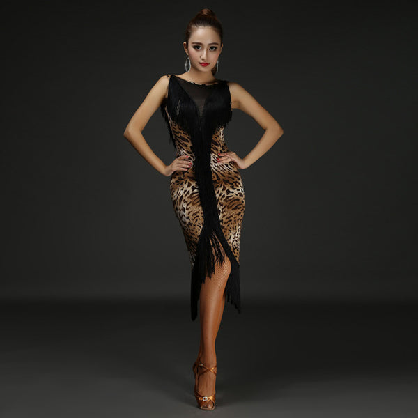 Sexy Latin Dance Dress  Women Girls  Polyester Flamengo Salsa Samba Tango Ballroom Competition Costume Lady Dance Top - On Trends Avenue