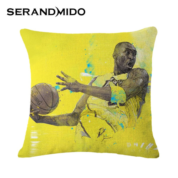 14 colors Modern Cushion Rugby and Basketball Stars Print Fashion Pillows Great Gift for Boyfriend 45*45cm SMC980T