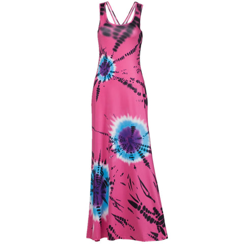 2017 Fashion Women Printed Dress Summer Beach Maxi Dresses Casual Hollow Out Back Elastic Dress