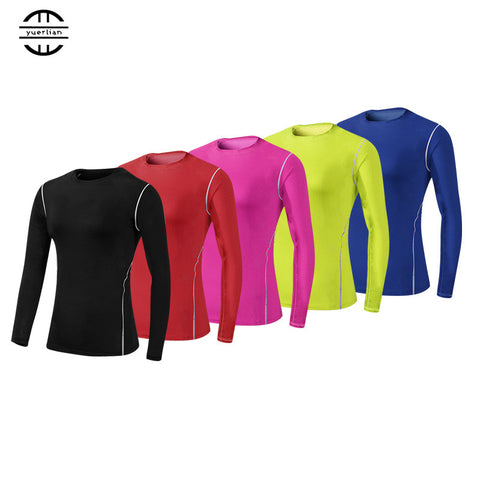 YEL Hot Women Logo Custom High Elastic Fitness Tight Compression Clothing Gym Training Sport Suit Running Long sleeve Yoga Shirt - On Trends Avenue