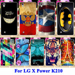 Hard PC Cell Phone Cases Covers For LG X Power Shell K210 K220 K220DS XPower Hood Tiger Captain American Batman Painted Housing - On Trends Avenue