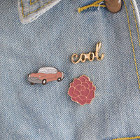 3 pcs/set Metal Enamel Brooch Pins Button Vintage Car Cool Rose Flower Brooches for Women Men Denim Jacket Collar Badge Jewelry - On Trends Avenue