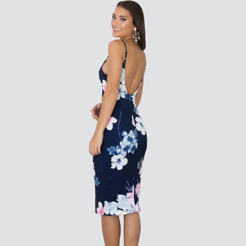 Deep V Neck  Backless BodyconSexy Summer Dress - On Trends Avenue